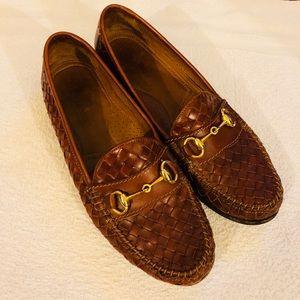 Allen Edmonds Chili Woven Italian Loafers 9 B